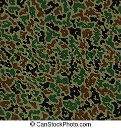 vetorial, militar, camuflagem, Padrão