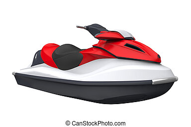 Jet Ski Isolated on White Background