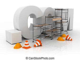 domain name dot com - 3d illustration of domain name dot com...