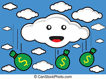 money rain - illustration vector graphic of money rain