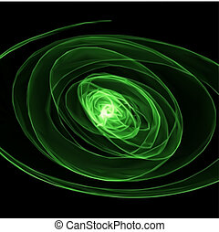 Abstract green background. Vector