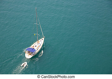 summer yachting - Yachting in Croatia - fragment of...