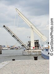 Drawbridge in the port of Antwerp