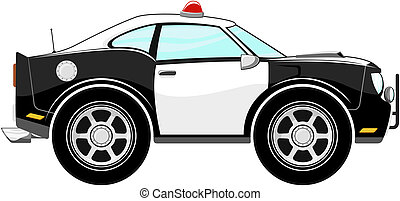 police car cartoon isolated on white background