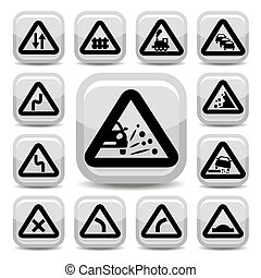 traffic signs - Elegant Traffic Signs Set Created For...