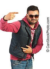 Cool rapper male with attitude