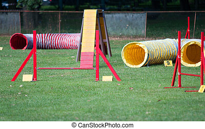 Agility Equipment ready for dog test
