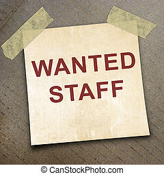 short note - text staff wanted on short note paper on the...