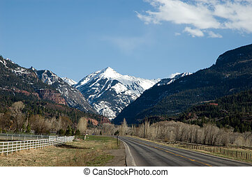 Mt Abrams - Highway 550 leads through the Uncompahgre Valley...