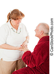 Hand Massage - Massage therapist massaging her clients...