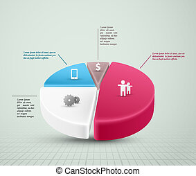 Pie Chart - Pie chart, infographic element Eps 10