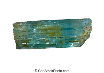 Beryl aquamarine - Light blue variety of beryl is also known...