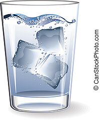 Glass water ice vector