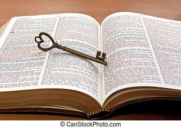 key on the Bible page