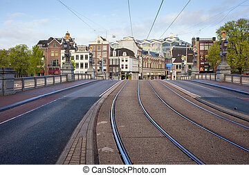Transport Infrastructure in Amsterdam - Street and tramway...