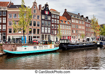 Prinsengracht Canal in Amsterdam - Prinsengracht canal in...