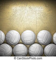 voleibol, Pelota, dorado, pared, Plano de fondo