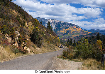 Kebler Pass Road - Scenic drive in western Colorado near...