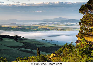 "Sunrise over Val d""Orcia"