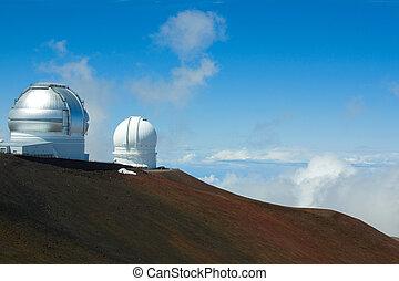 Telescopes on Mauna Kea - Gemini Northern Telescope and...