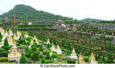 Nong Nooch tropical garden and mountain in Thailand