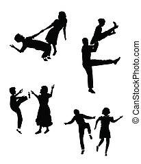 swing dancing set