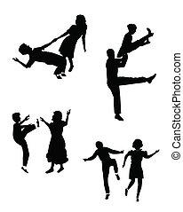 swing dancing set