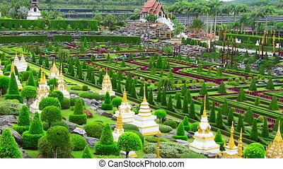 tropical garden Nong Nooch in Thailand