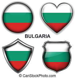 Bulgaria icons - Bulgaria flag icons, vector buttons.