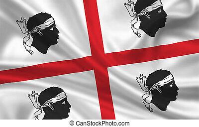 Sardinia - waving flag of sardinia