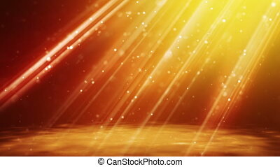 gold particles in light beams - flying gold particles in...