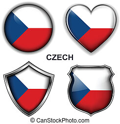 Czech Republic icons - Czech Republic flag icons, vector...