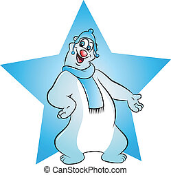 cute polar bear - vector illustration of polar bear with...