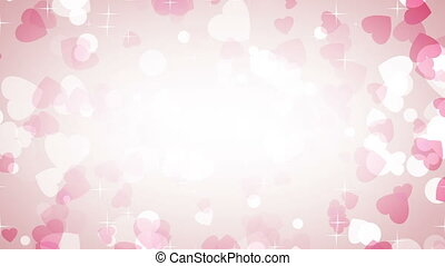 pink hearts frame loop background