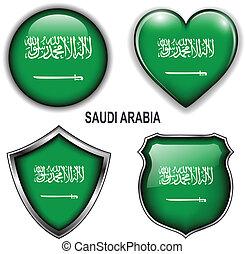Saudi Arabia icons - Saudi Arabia flag icons, vector buttons...