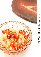 carnelian - This is called a cornelian with a mineral.