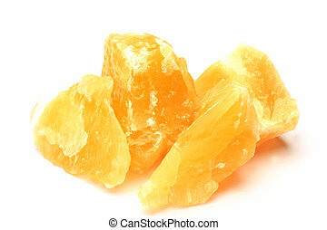 orange calcite - This is called orange calcite with a...