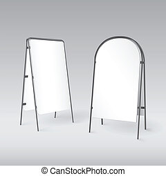 Sandwich board isolated - 3d illustration