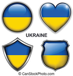 Ukraine icons - Ukraine flag icons, vector buttons.