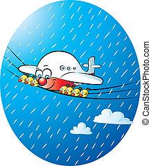 its raining again