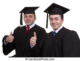 Two graduates together