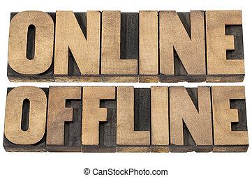 online and offline words