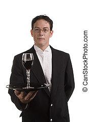 酒, 服務器, 晚禮服