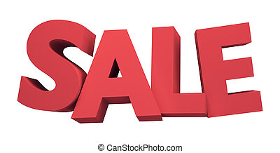 big 3D SALE word with clipping path