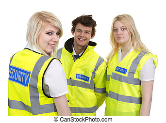 Man And Woman Wearing High-visibility Jacket