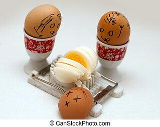 divertido, huevos
