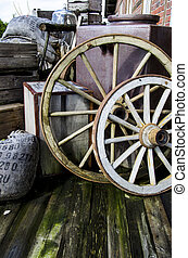 Vintage objects - wagon wheels