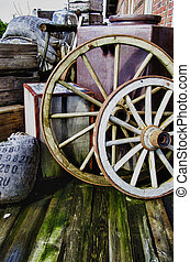 Vintage objects - wagon wheels HDR