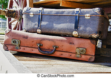 Vintage suitcases - HDR - Vintage suitcases - Travel...