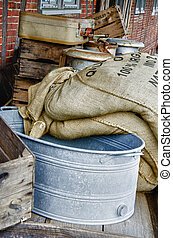 Sieve and grain bags - HDR